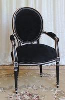 Chaise Accoudoirs Bout De Table Medaillon Fauteuil