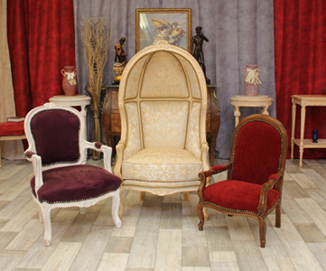 fauteuil bergere dome style louis XV